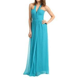 BCBG Max Azria Starr Halter Dress, in Jade Blue